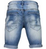 Enos Korte Broeken Heren - Slim Fit Denim Summer Vibe - Blauw