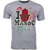 Mascherano T-shirt I Love Maroc - Grijs