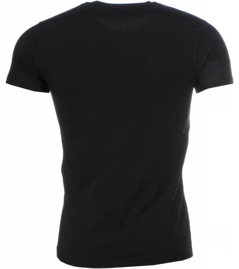 Mascherano T-shirt I Love Maroc - Zwart