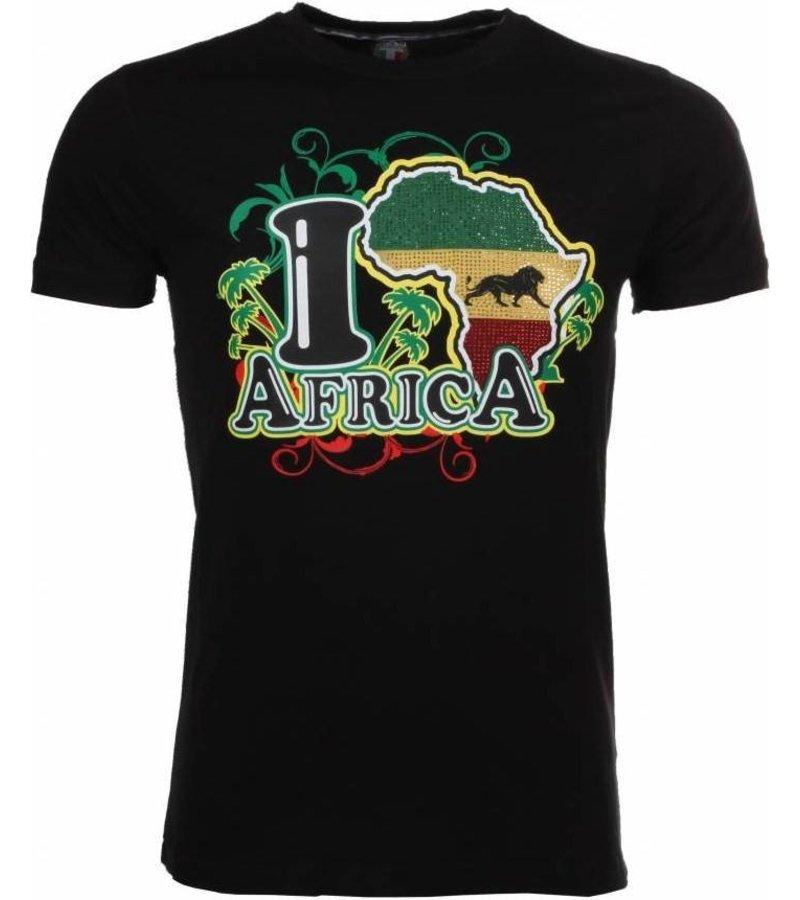 Mascherano T-shirt I Love Africa - Zwart