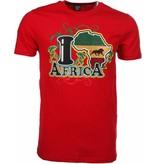 Mascherano T-shirt I Love Africa - Rood