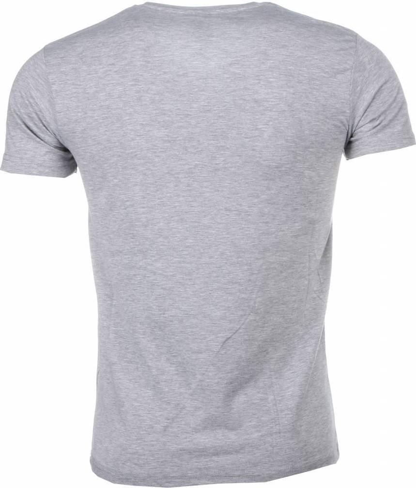 Mascherano T-shirt - Scarface Frame Print - Grijs - Style Italy