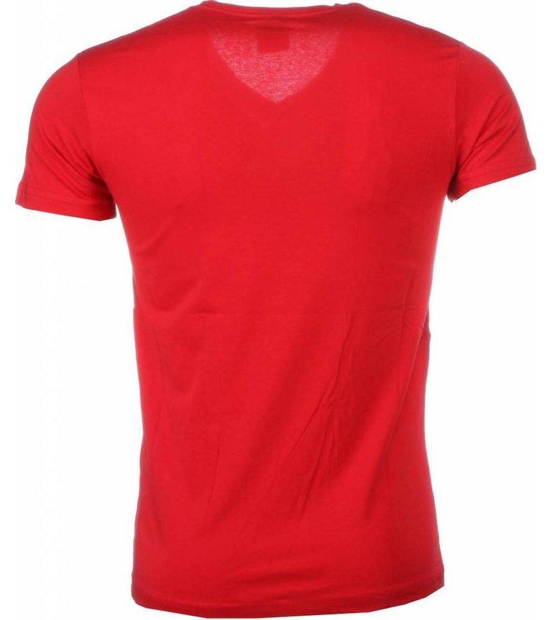 Mascherano T-shirt - Muhammad Ali Zegel Print - Rood