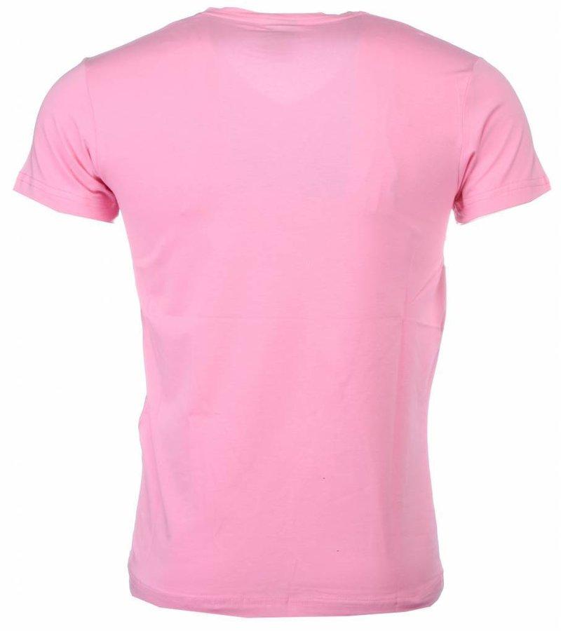 Mascherano T-shirt - Football Legends Print - Roze