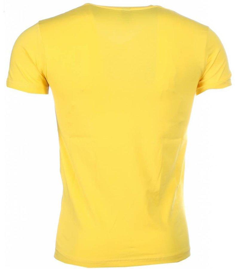 Mascherano T-shirt - Bruce Lee the Dragon - Geel