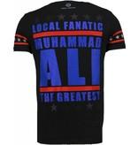 Local Fanatic Muhammad Ali - Rhinestone T-shirt - Zwart