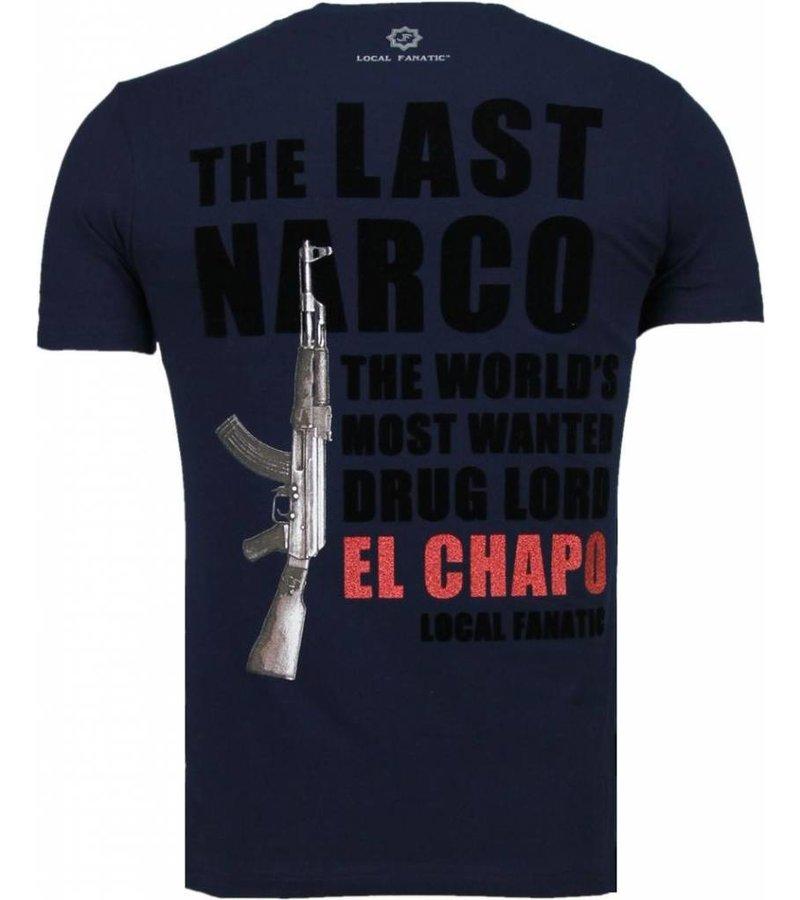 Local Fanatic El Chapo - Flockprint T-shirt - Navy