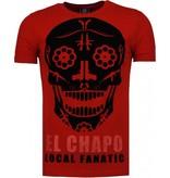 Local Fanatic El Chapo - Flockprint T-shirt - Bordeaux