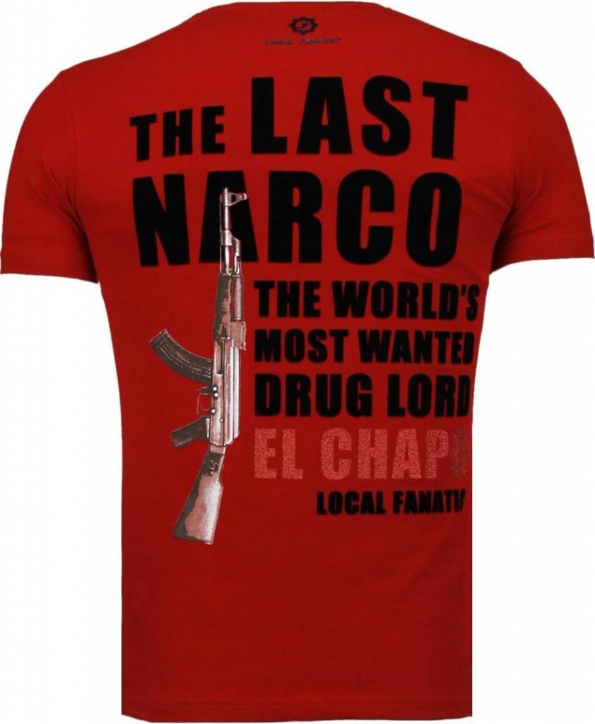 Local fanatic el chapo flockprint t shirt bordeaux for Local t shirt print shops
