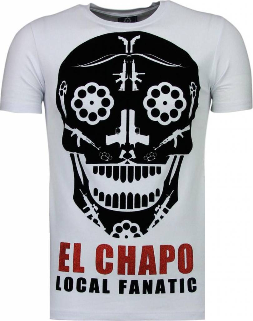 Local fanatic el chapo flockprint t shirt wit style for Local t shirt print shops
