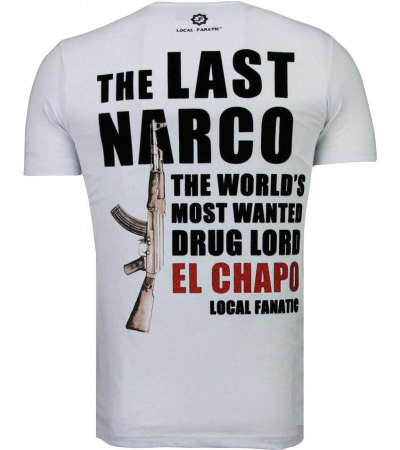Local Fanatic El Chapo - Flockprint T-shirt - Wit