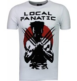 Local Fanatic Wolverine - Flockprint T-shirt - Wit