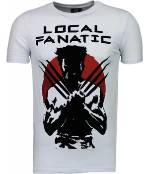 Local Fanatic Wolverine - Flockprint T-shirt - Wit
