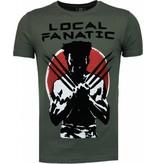 Local Fanatic Wolverine - Flockprint T-shirt - Groen