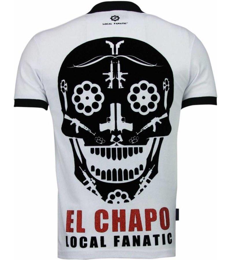 Local Fanatic El Chapo - Flockprint Polo - Wit