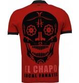 Local Fanatic El Chapo - Flockprint Polo - Bordeaux