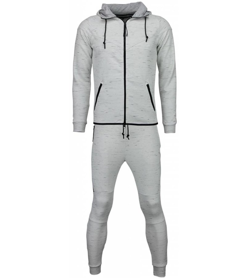 Gov-Denim Exclusieve Joggingpak - Basic Urban - Wit