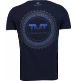 Local Fanatic Golden Boy Mayweather - Rhinestone T-shirt - Navy
