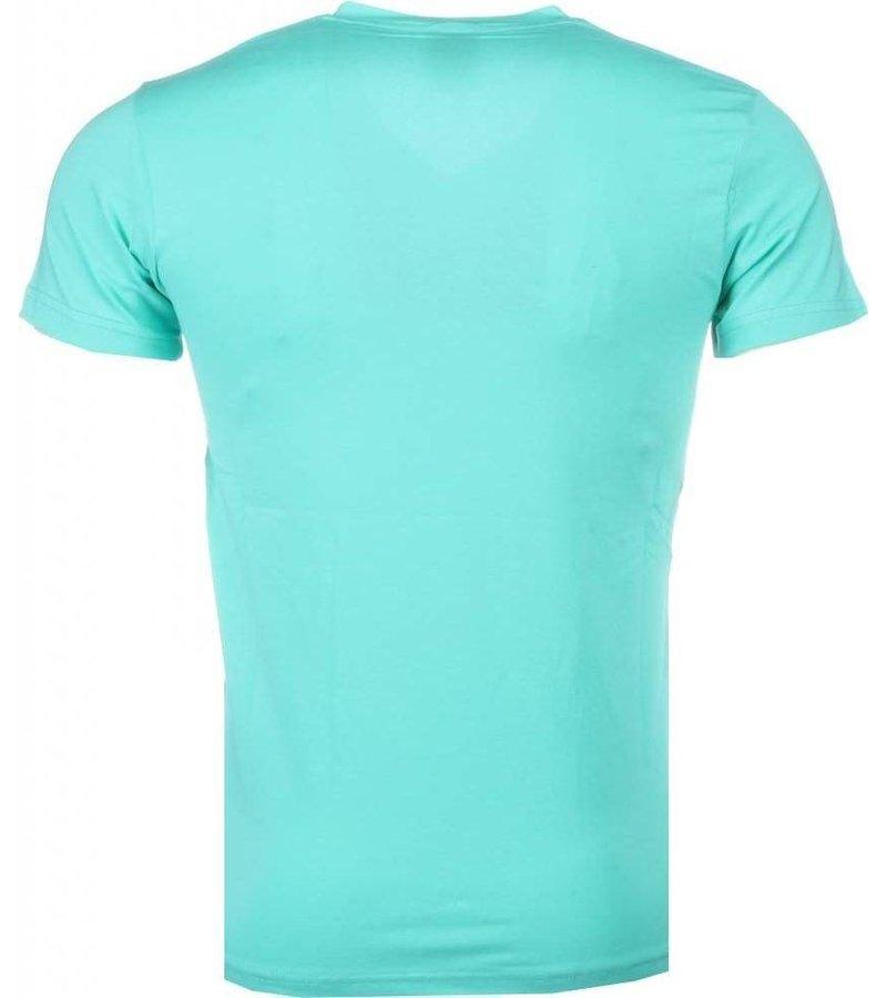 Mascherano Poppin Stewie - T-shirt - Turquoise