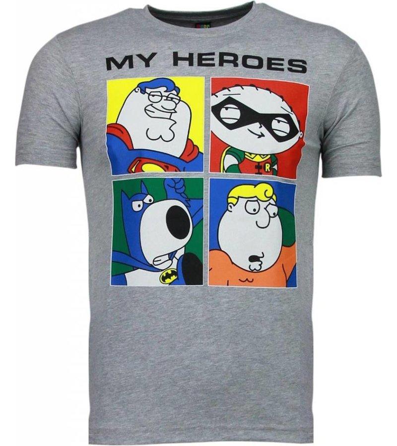 Mascherano Super Family - T-shirt - Grijs
