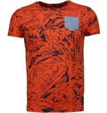 Black Number Forrest Motief - T-Shirt - Oranje