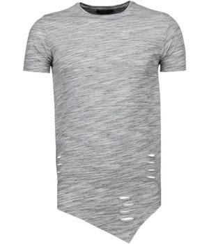 Tony Brend Sleeve Ripped - T-Shirt - Grijs