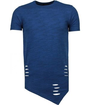Tony Brend Sleeve Ripped - T-Shirt - Navy