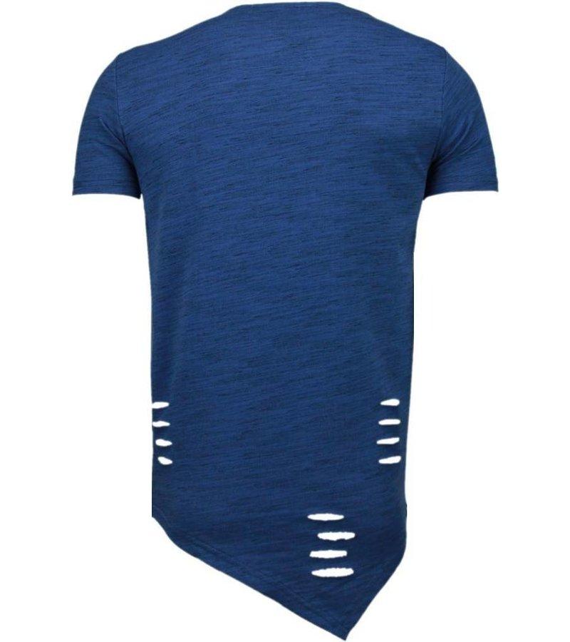Tony Brend Sleeve Ripped - T-Shirt - Navy