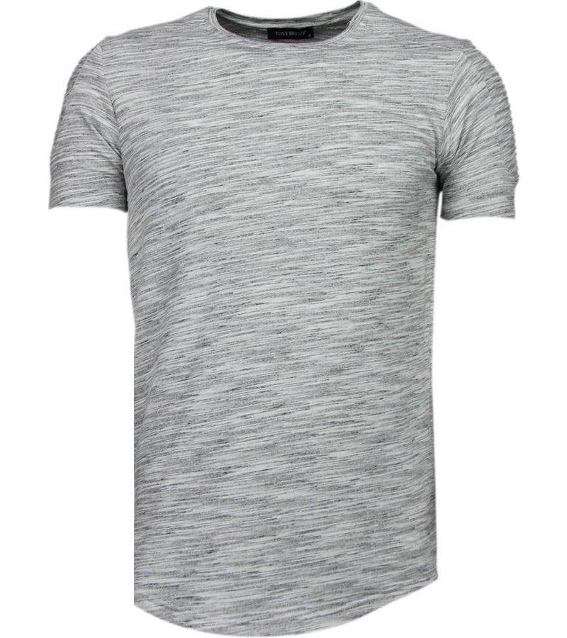Tony Brend Sleeve Ribbel - T-Shirt - Grijs
