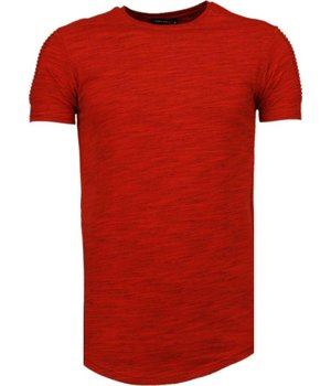 Tony Brend Sleeve Ribbel - T-Shirt - Rood