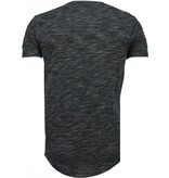 Tony Brend Sleeve Ribbel - T-Shirt - Zwart