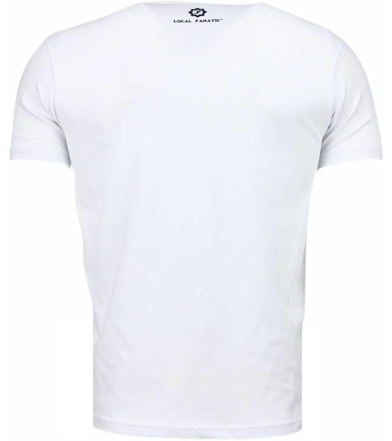 Local Fanatic Basic Exclusieve - T-Shirt - Wit