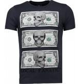 Local Fanatic Beter Have My Money - Rhinestone T-shirt - Donker Grijs