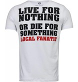 Local Fanatic Rambo - Rhinestone T-shirt - Wit