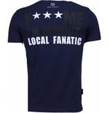 Local Fanatic Kim Kardashian - Rhinestone T-shirt - Navy