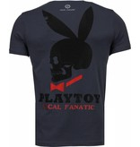 Local Fanatic God Save Playtoy - Rhinestone T-shirt - Donker Grijs