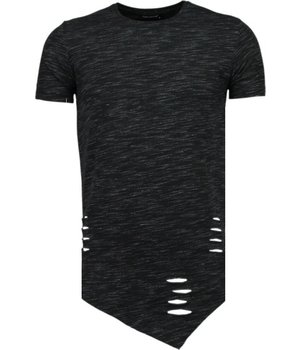 Tony Brend Sleeve Ripped - T-Shirt - Zwart