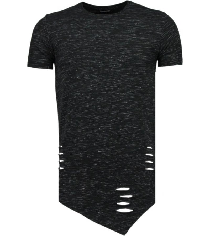 Tony Brend Sleeve Ripped - T-Shirt - Zwart