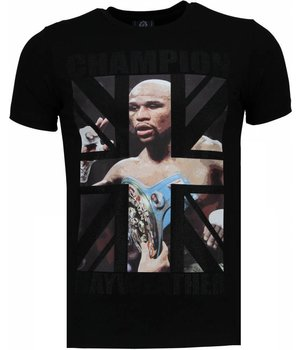 Local Fanatic Mayweather - Rhinestone T-shirt - Zwart
