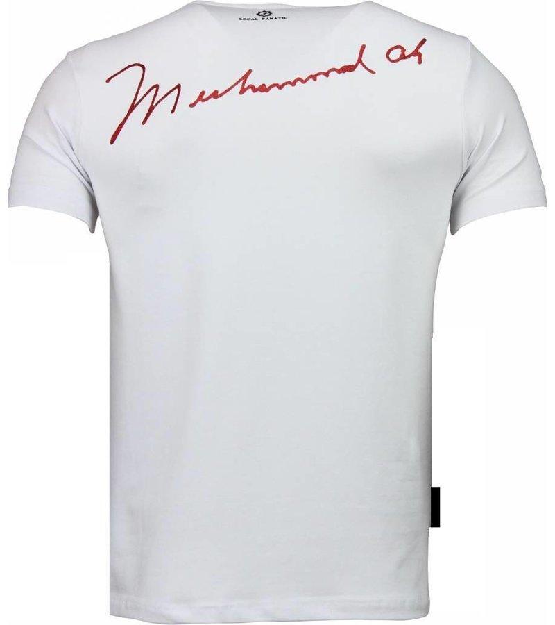 Local Fanatic Muhammad Ali Stars - T-shirt - Wit