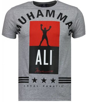 Local Fanatic Muhammad Ali Stars - T-shirt - Grijs