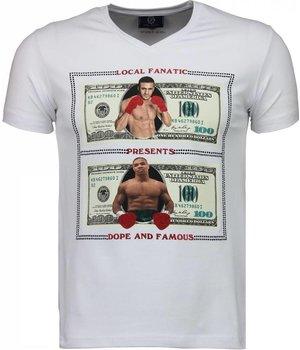 Local Fanatic Golden Boy vs Iron Mike - T-shirt - Wit