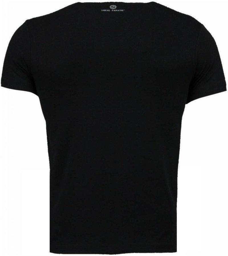 Local Fanatic Golden Boy vs Iron Mike - T-shirt - Zwart