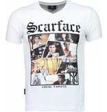 Local Fanatic Scarface TM - T-shirt - Wit