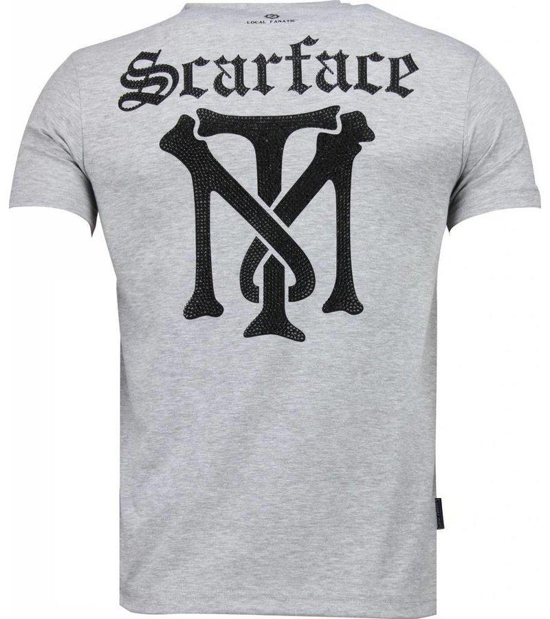 Local Fanatic Scarface TM - T-shirt - Grijs
