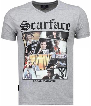 Local Fanatic Scarface TM - T-shirt - Grijs