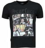 Local Fanatic Scarface TM - T-shirt - Zwart