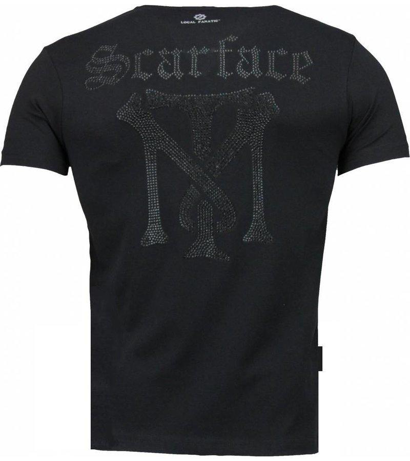 Local Fanatic Scarface TM - T-shirt - Zwart
