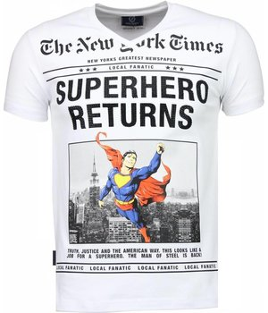 Local Fanatic SuperHero Returns - T-shirt - Wit
