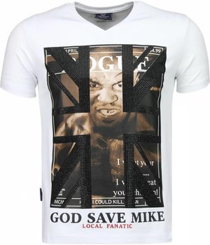 Local Fanatic Iron Mike Tyson - T-shirt - Wit
